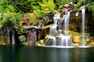 Cascading Red Granite Falls