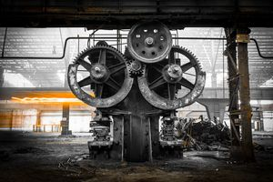 old, metallurgical firm waiting for