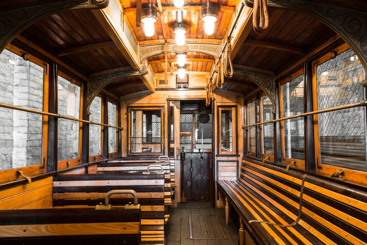 old tram interior - maroti