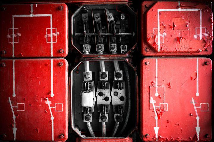 Industrial Fuse Cabinet close up - maroti