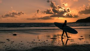 The Silhouetted Surfer