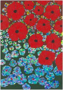 Poppies field under acid