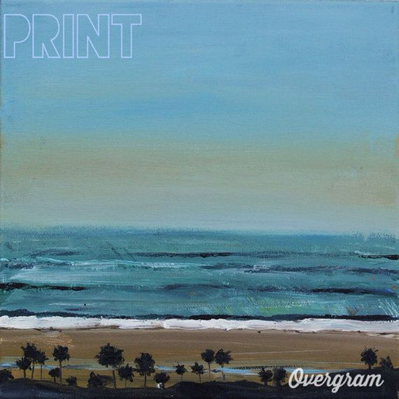 Pacific Ocean Santa Monica Bluffs - ROZ Paints