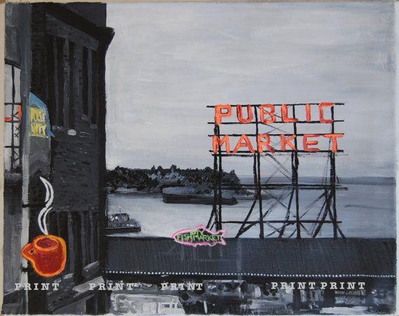 Pike Place Seattle - ROZ Paints
