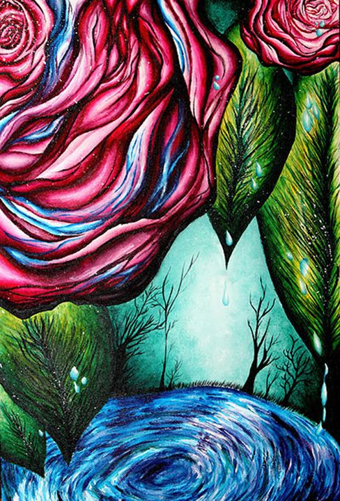 ABSTRACTED ROSES - Melissa Williams