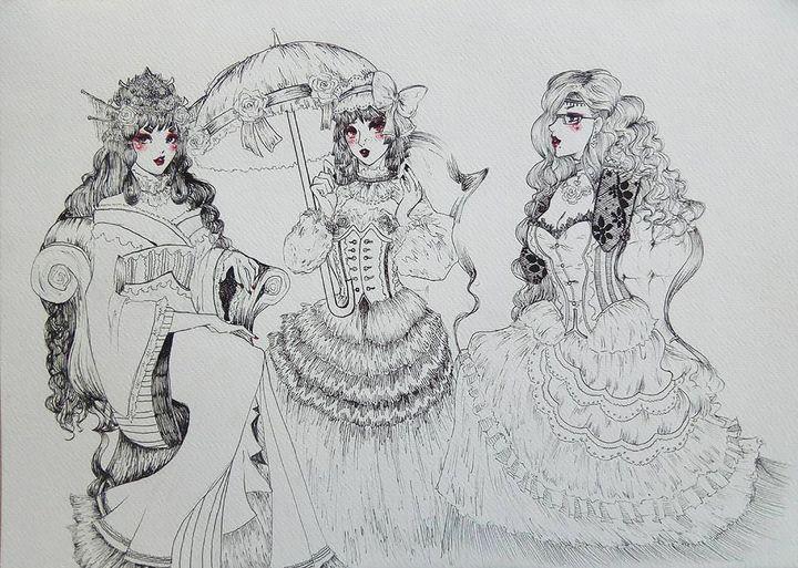 Dreamy Ladies - Demian Draws