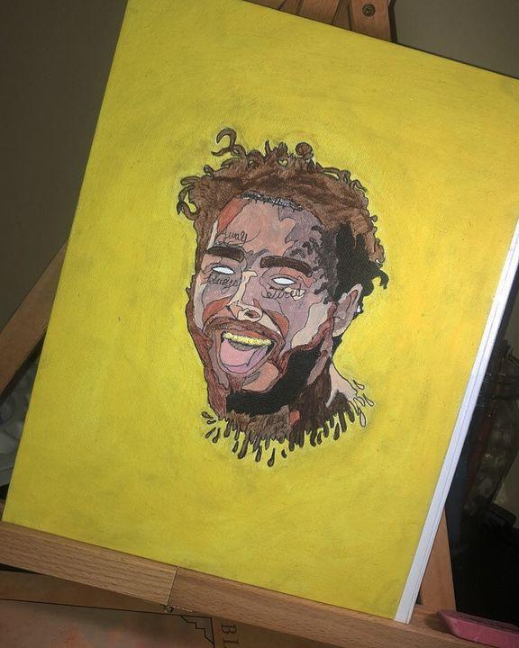 Post Malone Always Tired Acrylic - Annaspangler7 Art