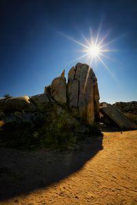 Sunburst in Joshua Tree Natl Park