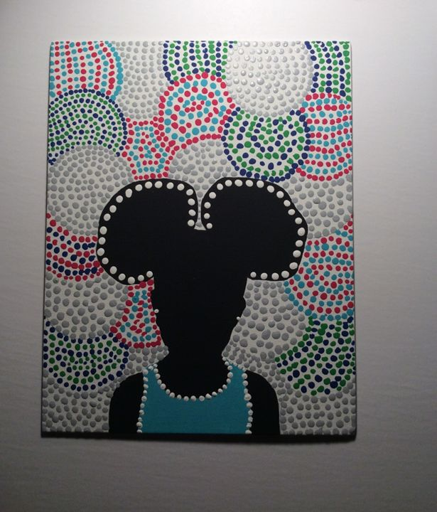 AFRO PUFFS-Aboriginal Art - PAIGEAI