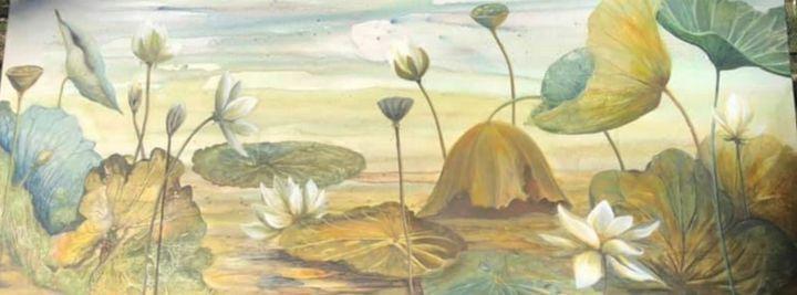 Among The Lotus - Vicki Arnold Art