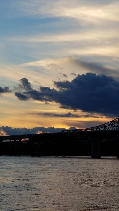 Tennessee River bridge sunset - Midnight Treasures
