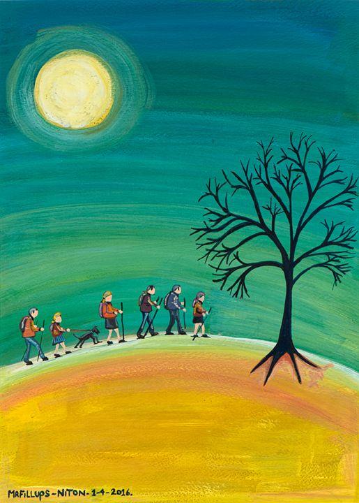 Walk the Wight 4 - Mr Fillups Quirky Art