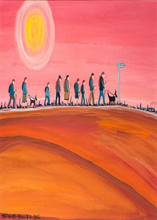 Walk the Wight 3 - Mr Fillups Quirky Art