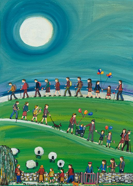 Walk the Wight 1 - Mr Fillups Quirky Art