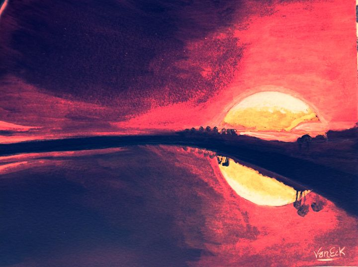 sunset inverted - Inverseart