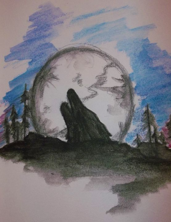 Blue Moon - The Art of Wolves