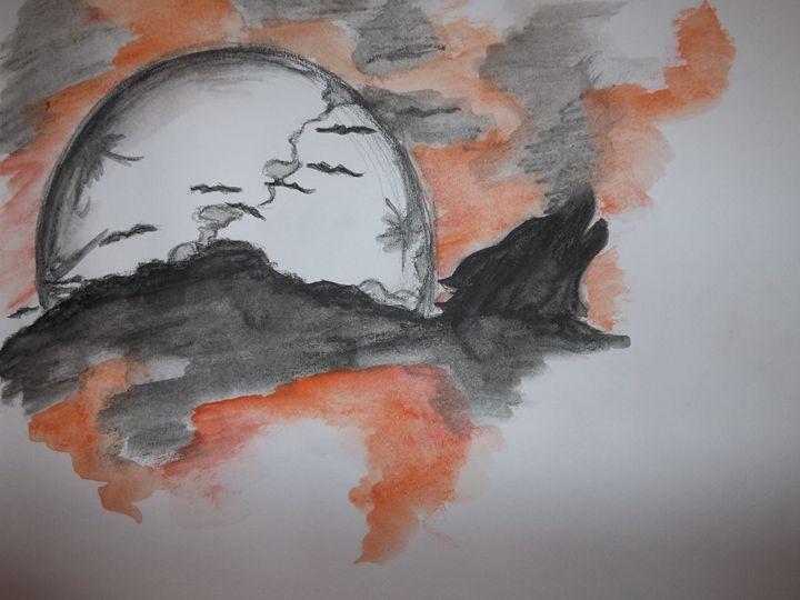 Halloween Sky - The Art of Wolves