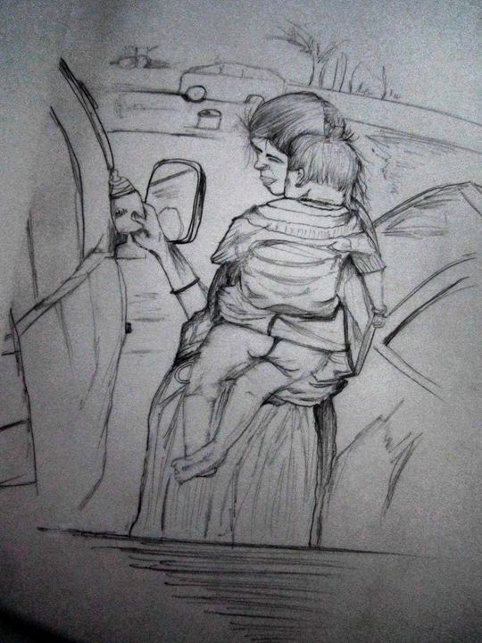 mom - pencil art