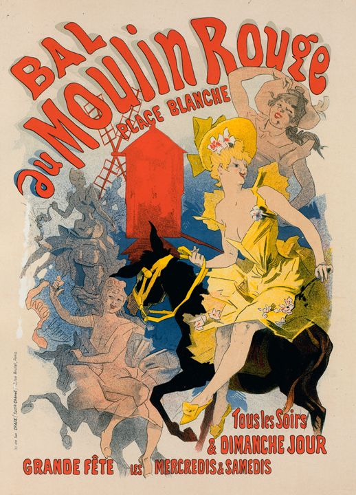 Vintege Poster Bal du Moulin Rouge - Liszt Collection