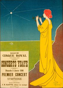 Belgian poster for Ysaye Concerts - Liszt Collection
