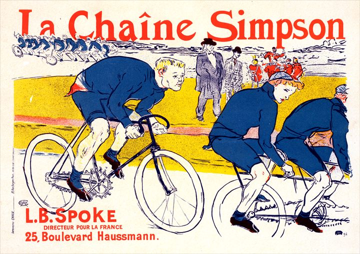 Poster for la Chaîne Simpson. - Liszt Collection