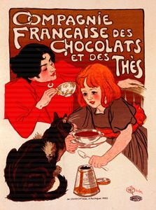 Poster for chocolate, Steinlen - Liszt Collection