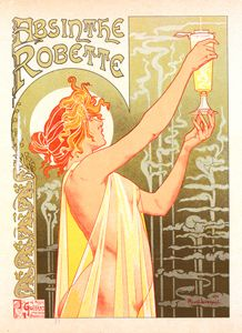 Belgian Poster l' Absinthe Robette - Liszt Collection