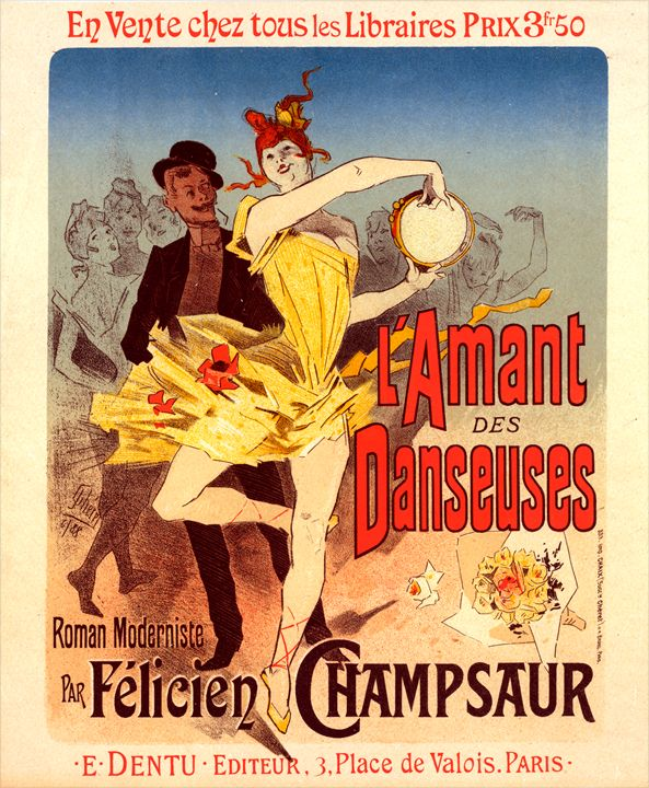Poster for l'Amant des Danseuses - Liszt Collection