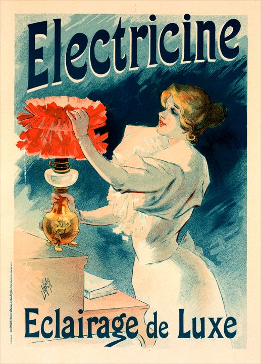 Poster for l' Électricine, Lefevre - Liszt Collection