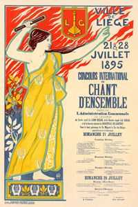 Belgian Poster for ville de Liège - Liszt Collection