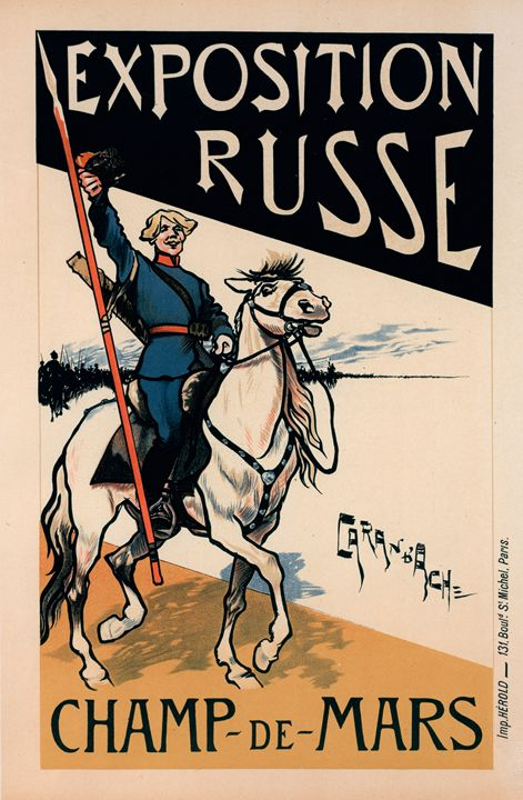 Poster for l' Exposition Russe. - Liszt Collection