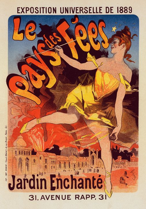 Poster for the world exhibition 1889 - Liszt Collection