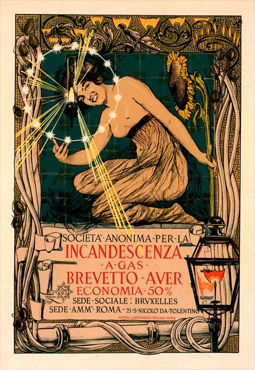 Italian poster for l' Incandescence - Liszt Collection