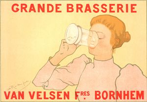 Belgian poster. Grande Brasserie - Liszt Collection