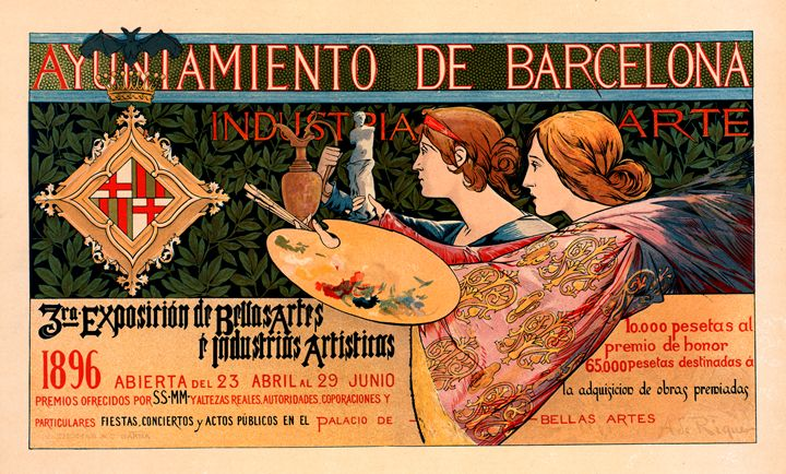 Spanish poster Exposition Barcelone - Liszt Collection
