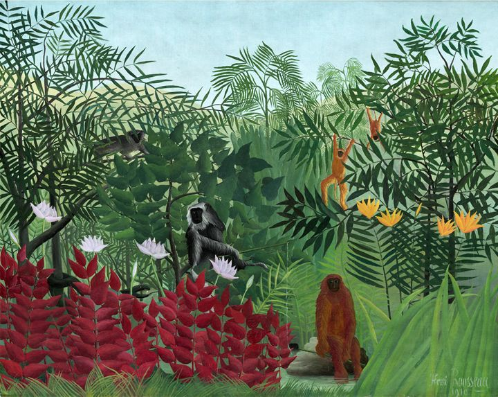 Henri Rousseau, Tropical Forest - Liszt Collection