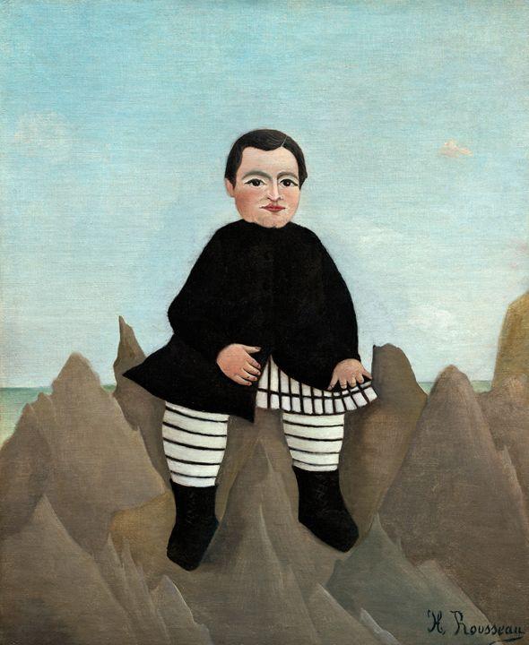 Henri Rousseau, Boy on the Rocks - Liszt Collection