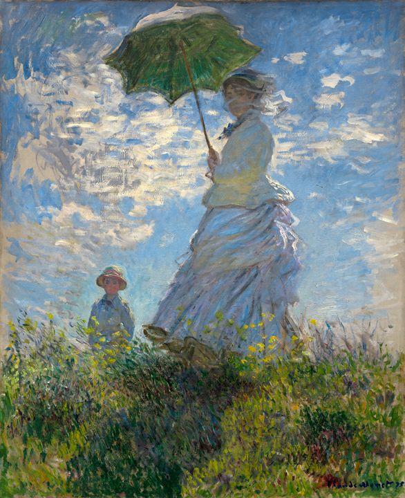 Woman with a Parasol, Claude Monet - Liszt Collection