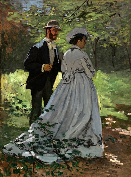 Bazille and Camille, Claude Monet - Liszt Collection