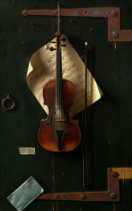 Old Violin,, William Michael Harnet - Liszt Collection