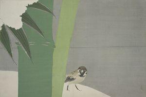 Sparrow and Bamboo., Kamisaka Sekka - Liszt Collection