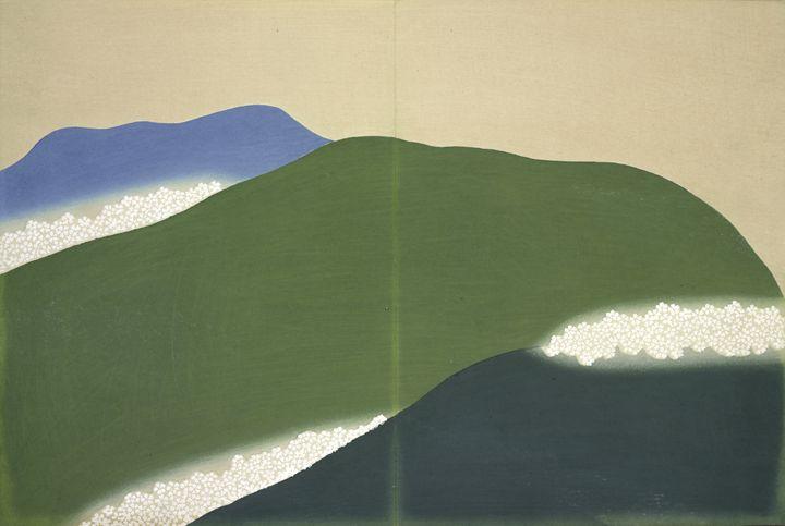Green Mountains Kamisaka Sekka Japan - Liszt Collection
