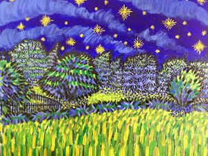 Starry Field 16x20in