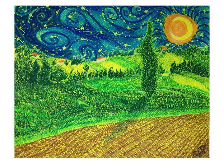 Parma italy Starry night - CurlyArt