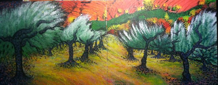 Olive Trees - CurlyArt