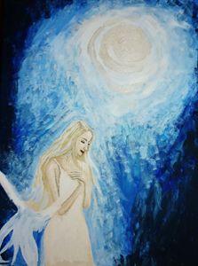 Angel basking in the light.