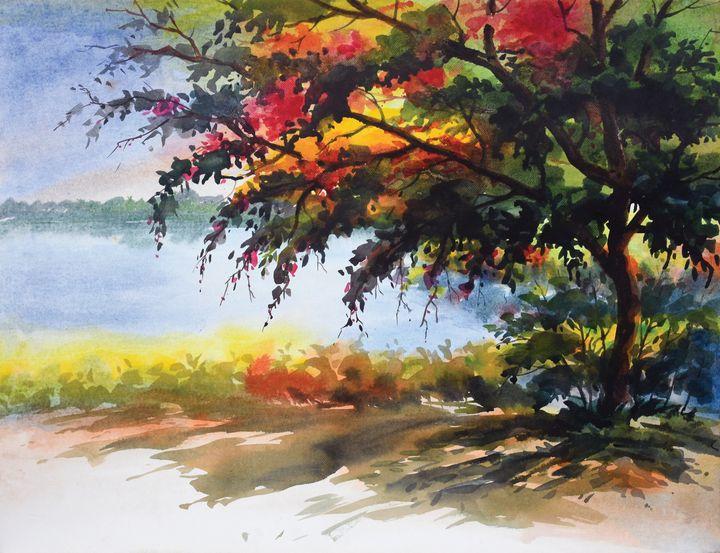 A tree in the lakeside - Salahuddin