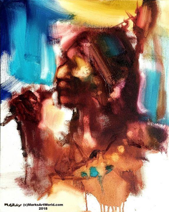 Indian Portrait by Mark Gray - MarksArtWorld