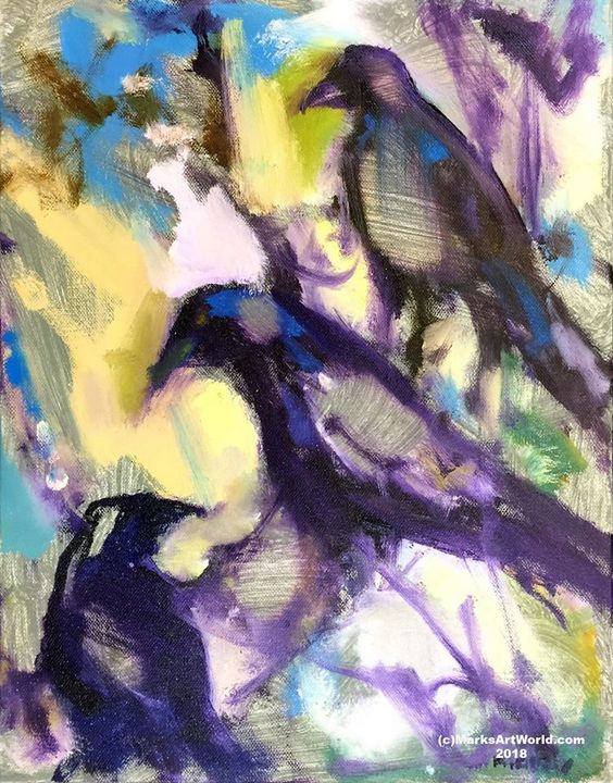'Blackbirds' by Mark Gray - MarksArtWorld