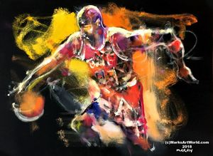Michael Jordan 'MJ' by Mark Gray - MarksArtWorld